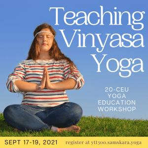 teaching vinyasa yoga 300-hout YTT CEU clarksville ar dulles va