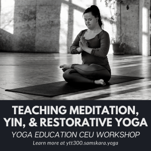 yin restorative meditation nidra teacher training workshop ashburn dulles sterling va clarksville ar