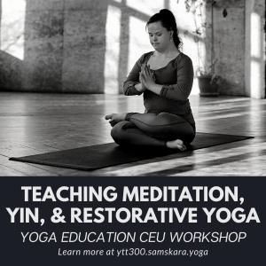 yin restorative meditation nidra teacher training workshop ashburn dulles sterling va clarksville ar