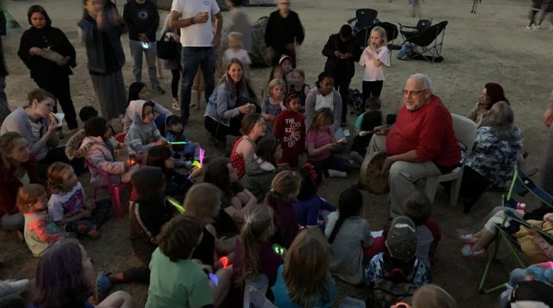 Jack & the bean Stalk at Waldorf School camp out.