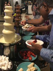 The chocolate fountains were not a lie