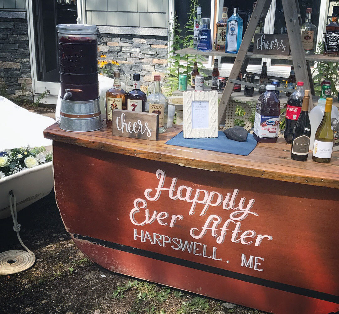 Happily Ever After Harpswell Boat Bar