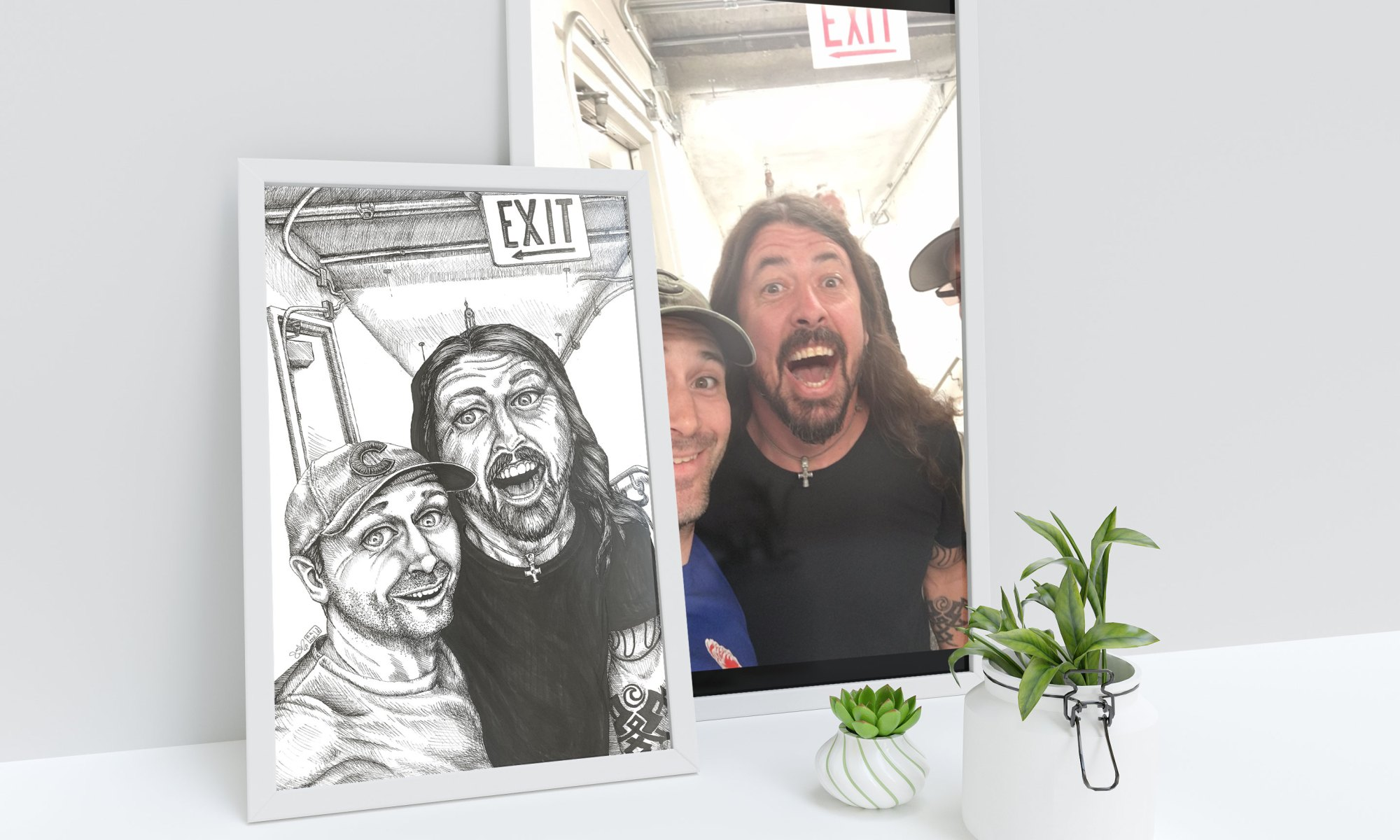 Dave Grohl & Andrew Lawther Illustration