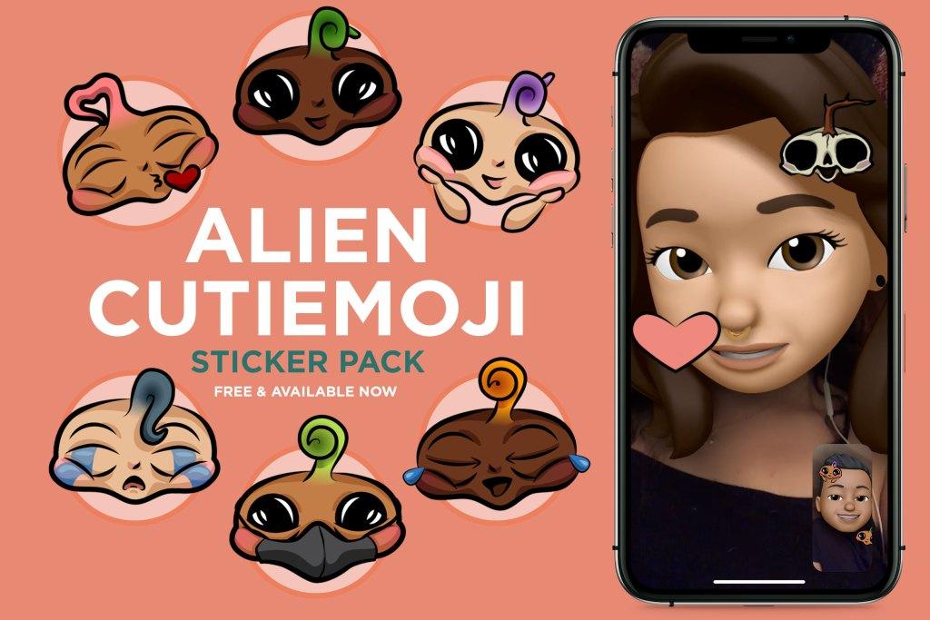 Alien Cutiemoji Sticker App