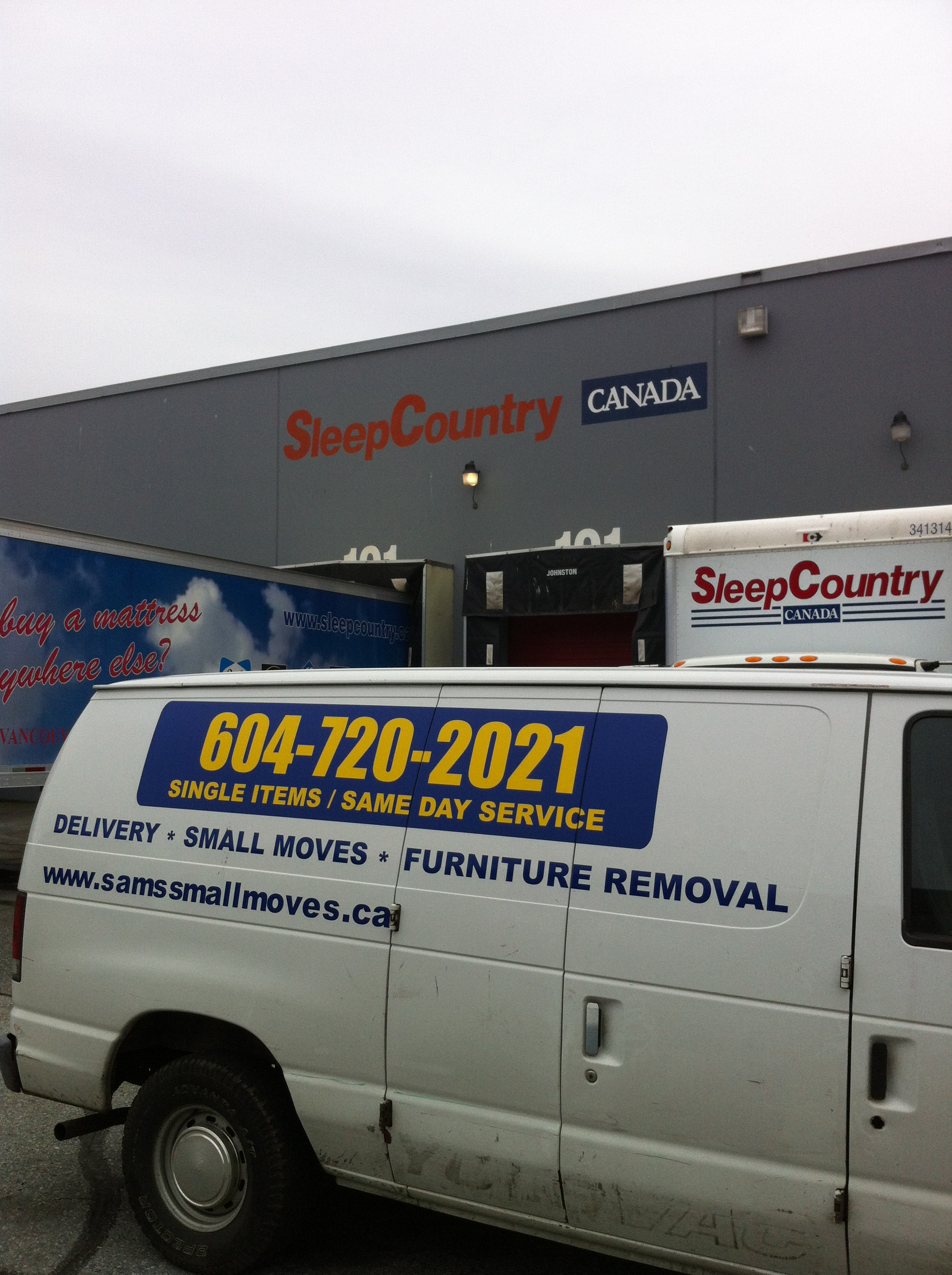 Sears Mattress Sets >> Sleep Country Vancouver - Pick up and Delivery Service ...