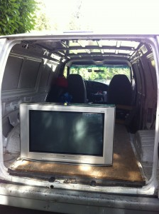 Sam's Small moves - TV Removal & Recycling - Vancouver - big screen TV recycling Vancouver