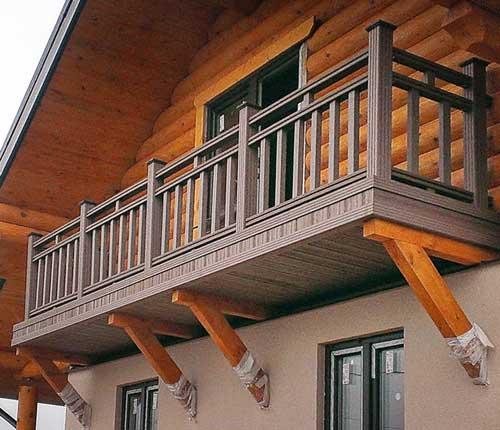 Перила для балконов из дерева своими руками.