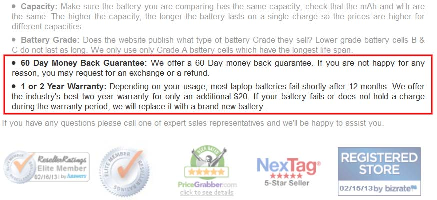 Guarantee versus Warranty