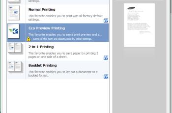 Samsung Laser Printers - Easy Eco Driver