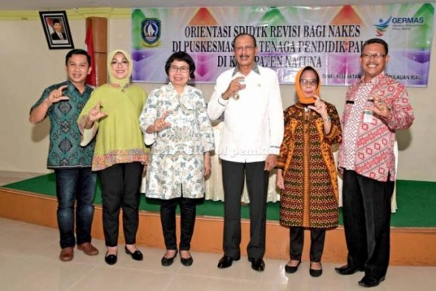 Bupati Natuna Hamid Rizal Buka Acara GERMAS, SamuderaKepri