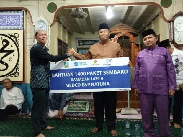 1.400 Paket Sembako dibagikan Medco E&P Natuna Ltd Dalam Rangka Safari Ramadhan, SamuderaKepri