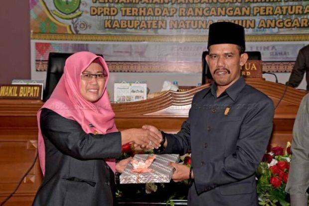 Rapat Paripurna DPRD Natuna Penyampaian 6 Rancangan Peraturan Daerah, SamuderaKepri