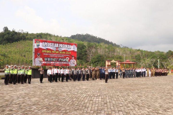 Polres Lingga Gelar Apel Bersama Pasukan Dalam Rangka Operasi Patuh Seligi 2019