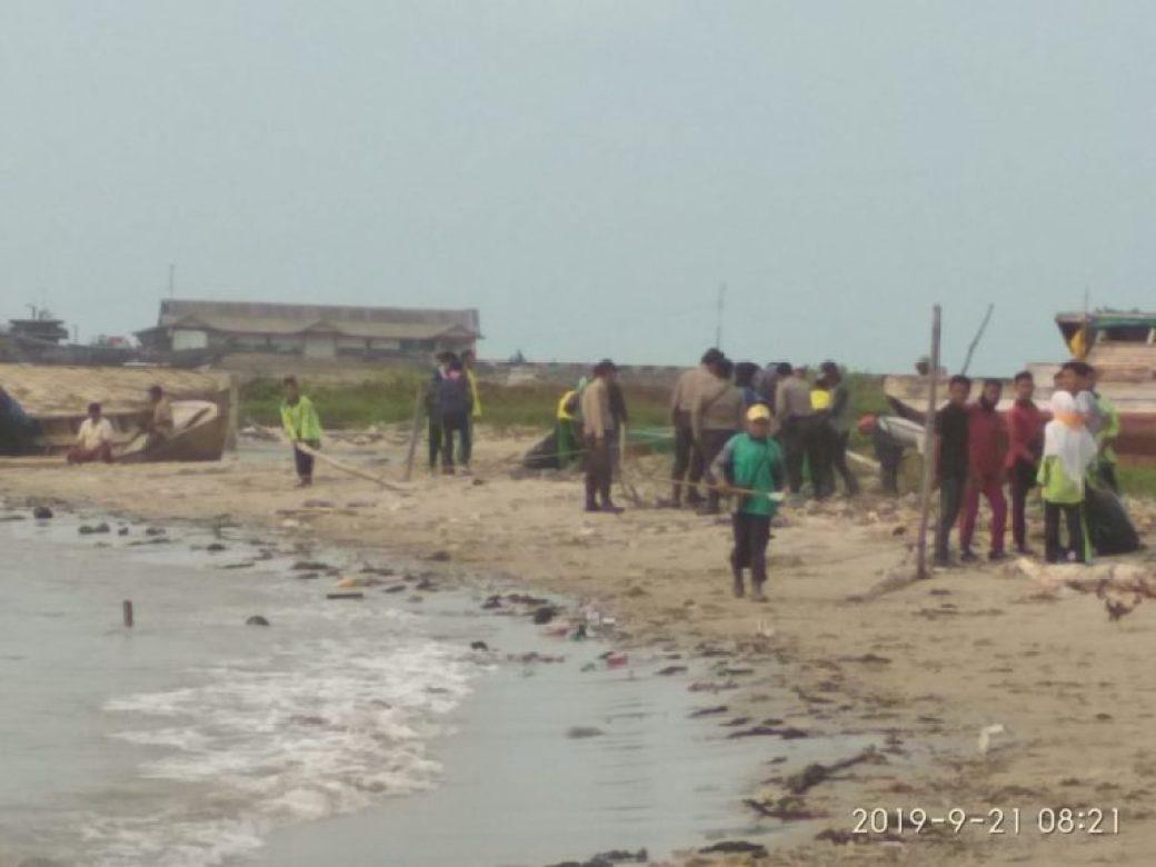, Peduli Lingkungan, BEM STIT-LG Ikuti World Cleanup Day, SamuderaKepri