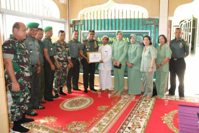 , Peringati HUT TNI ke 74, Dandim 0316/Batam Beranjangsana ke Panti Asuhan Ridho Ilahi, SamuderaKepri