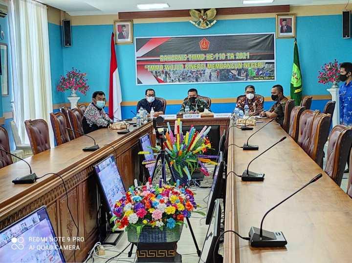 Ketua Komisi II DPRD Natuna Turut Hadir Rakornis TMMD Ke 110, SamuderaKepri