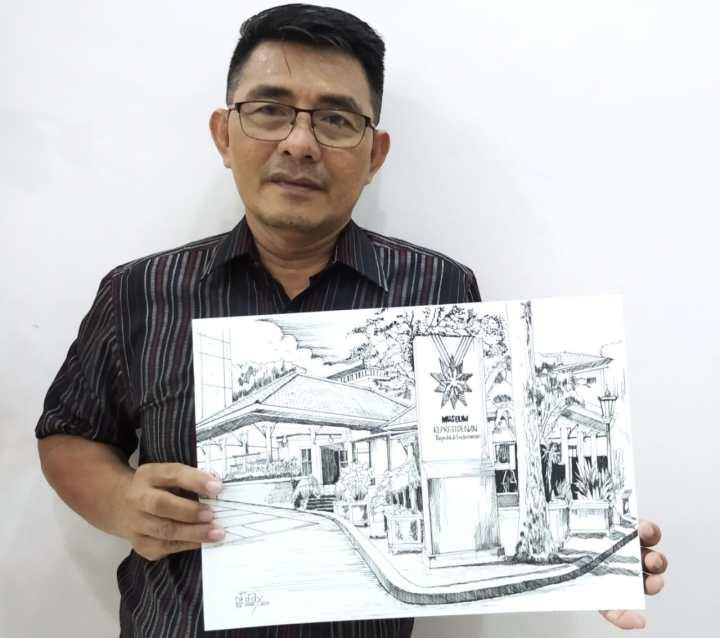 Karya Sketsa Asal Kepri Pemenang Lomba Museum Kepresidenan RI Balai Kirti, SamuderaKepri