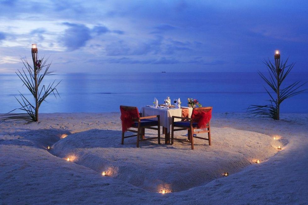 Candle Light Dinner at the Arena Beach Hotel Maldives