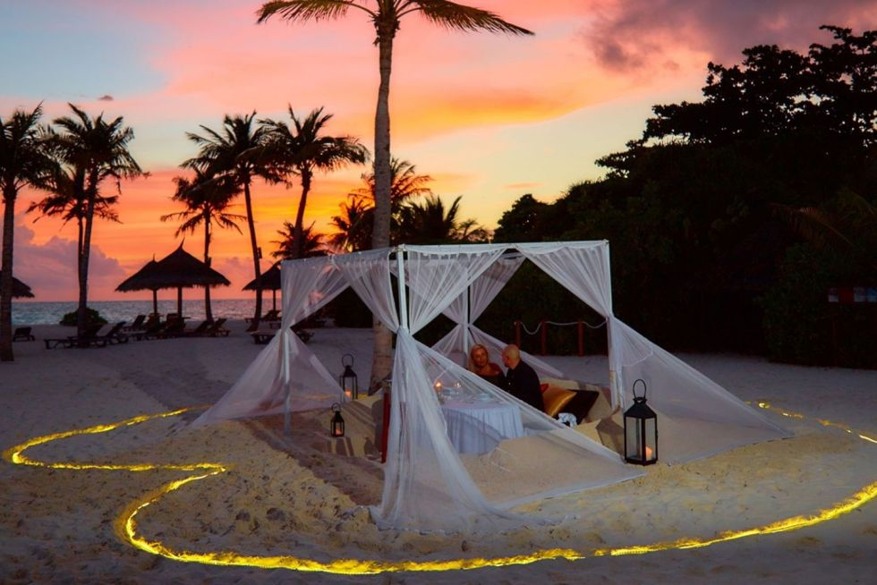 Candle Light Dinner at the Kuredu Resort & Spa Maldives