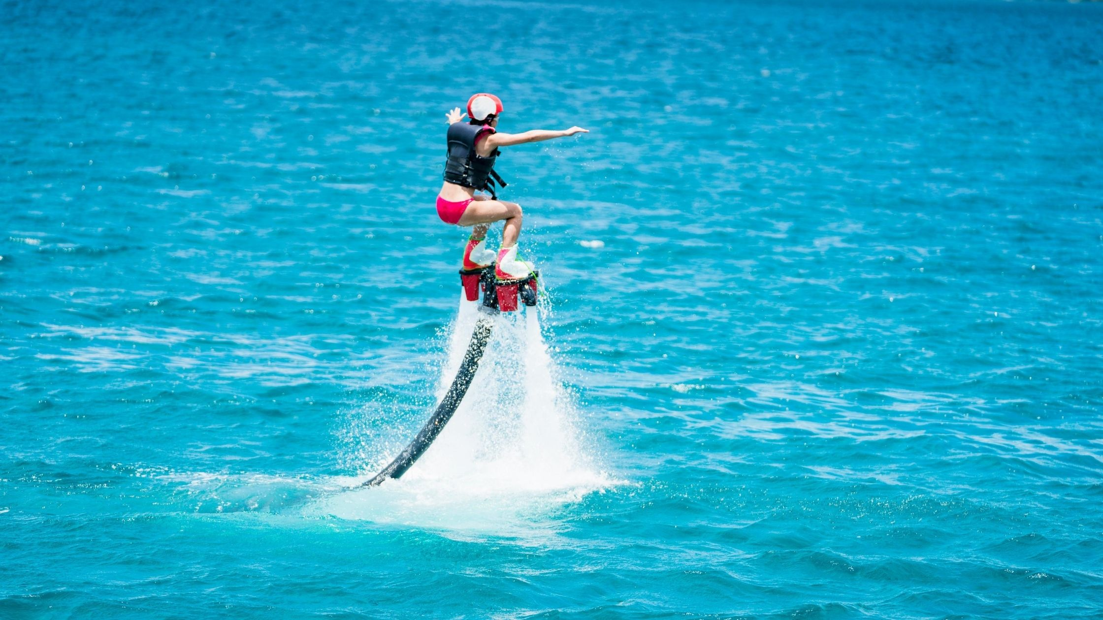 Flyboarding in the Maldives