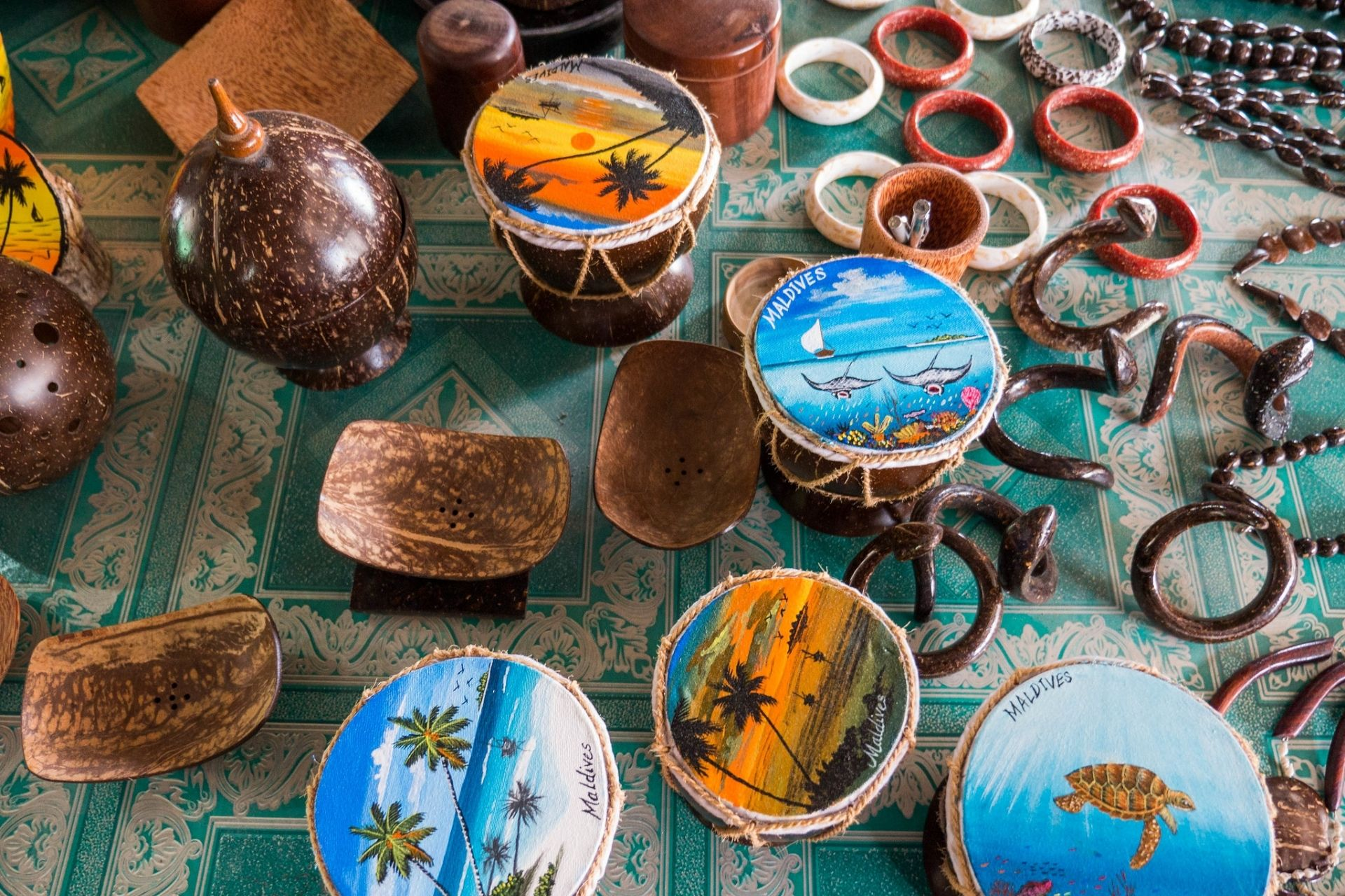 Shop local souvenir and handicrafts on your Full Day Maldives Adventure Trip