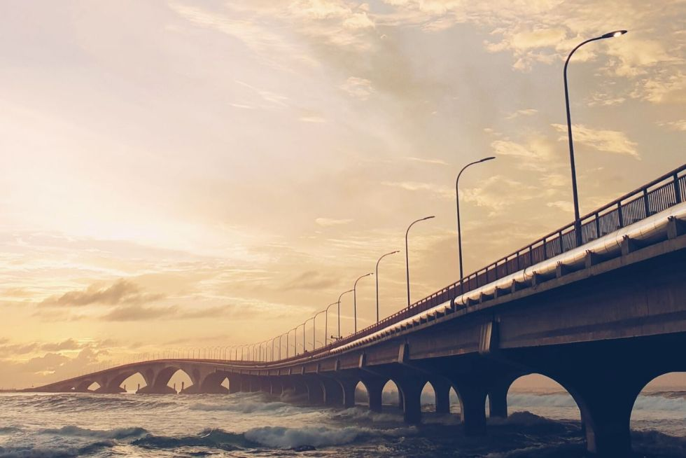 Sinamalé Bridge in Malé