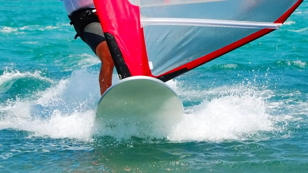Wind Surfing in The Maldives