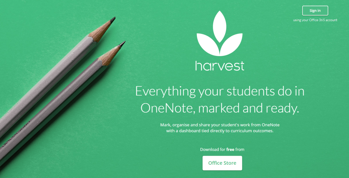 Harvest: Making Marking Easy in OneNote Class Notebooks