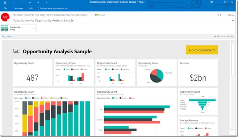 New To PowerBI: Daily Dashboard Email Updates Via Subscription