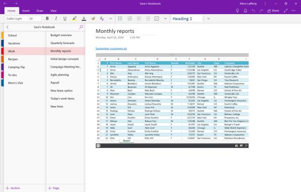 OneNote OneDrive Files