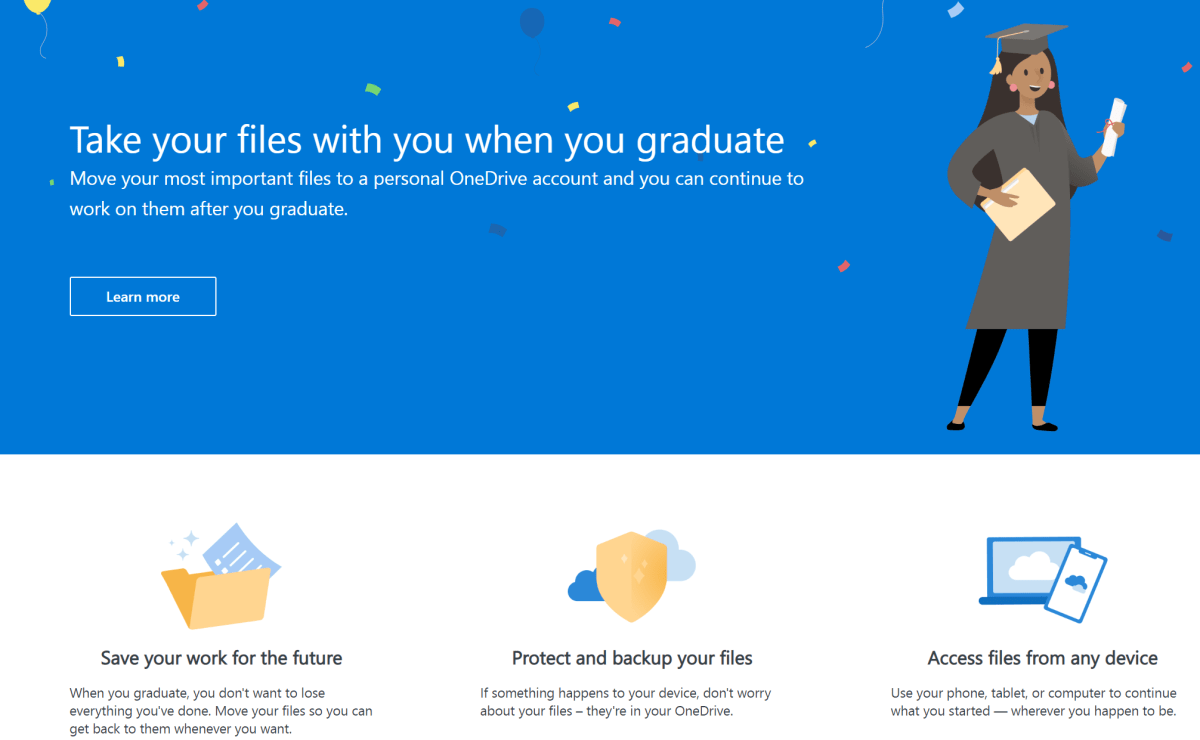 Take Your Files (& email!) With You Using OneDrive Graduation