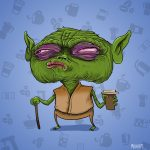 Yoda on coffee