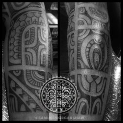 Marquesas style tattoo by Samuel Morgan Shaw
