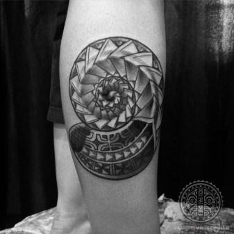 Nautilus Polynesian tattoo