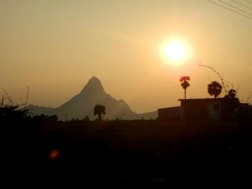 Ein Berg in der Abendsonne