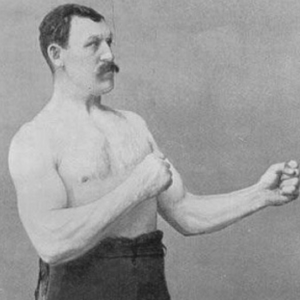 manly man vintage picture