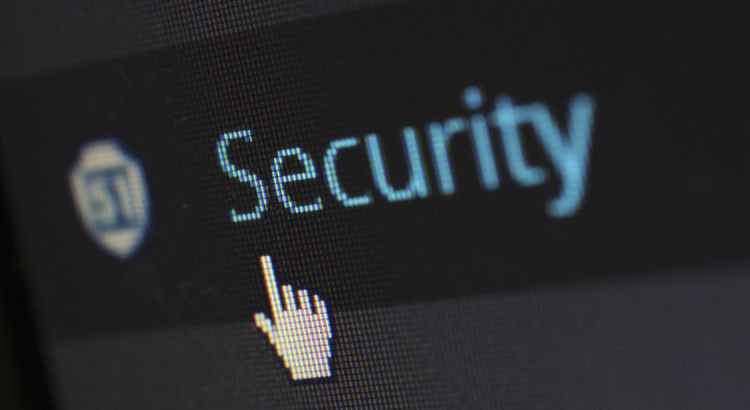 Security text on screen