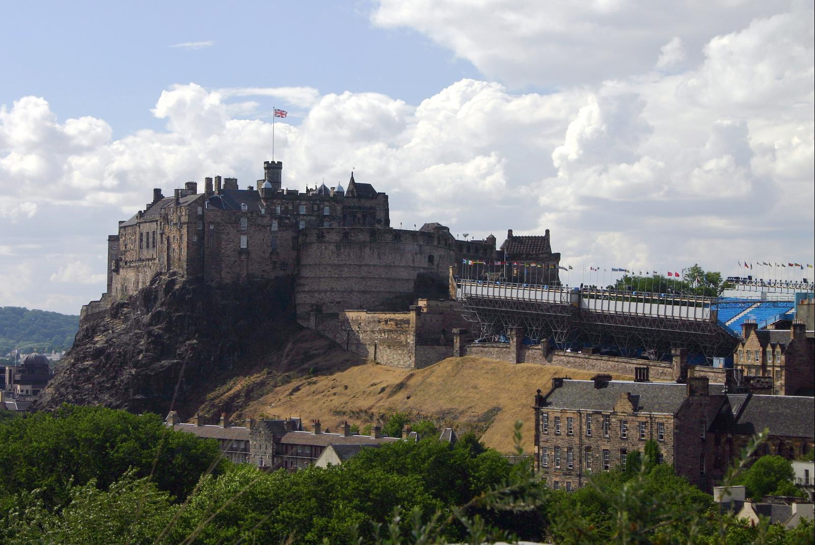 Emplacement stratégique pour le chateau d'Edinburgh