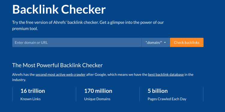 Ahrefs backlink checker