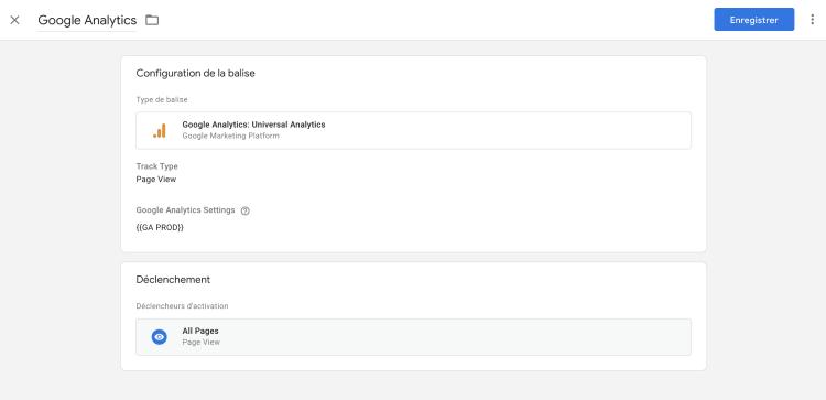 Configurez le Google Tag Manager avec votre première balise