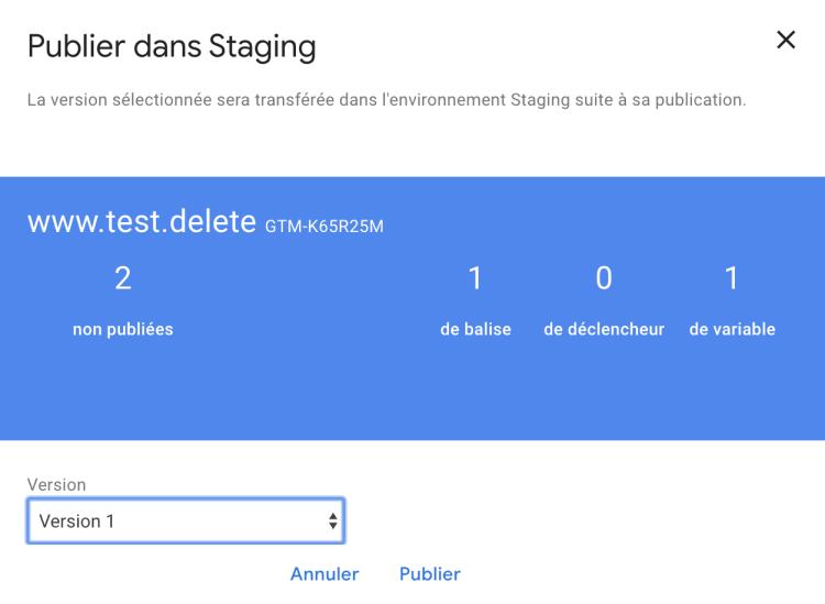 Créer un environnement de test avec Google Tag Manager