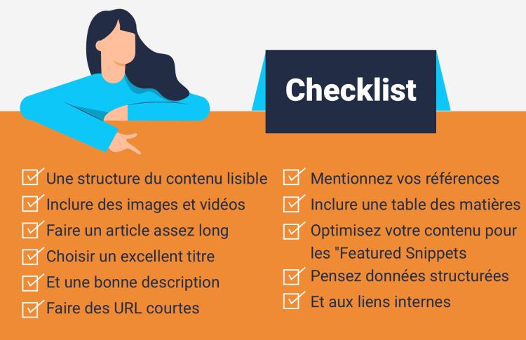 Les points à ne pas oublier lors de la création de contenu pour le web - checklist