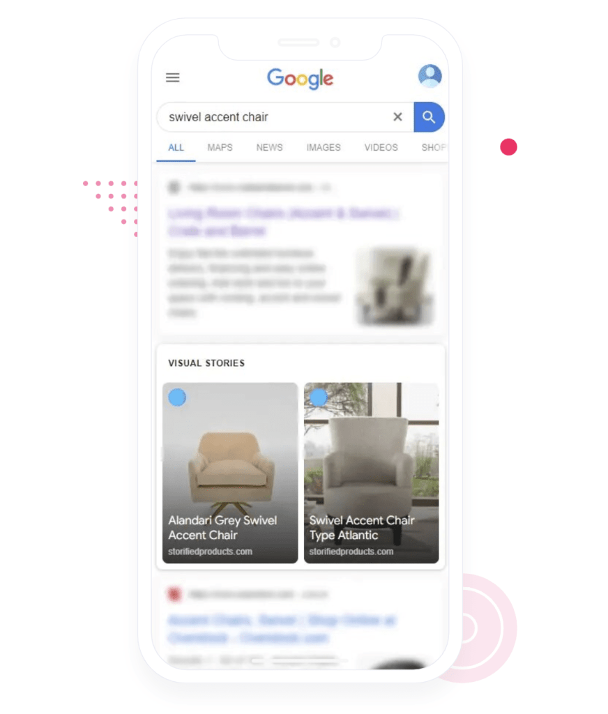 SEO benefits and better visibility in Google Search Visual Stories section