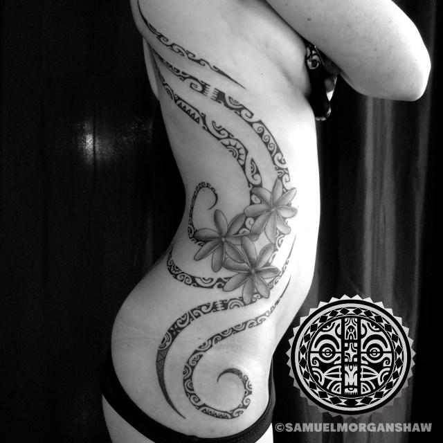 Feminine Tahitian style tattoo