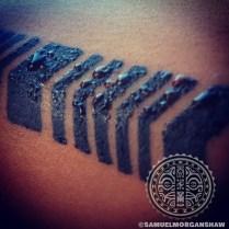 Up close of Hawaiian tattoo