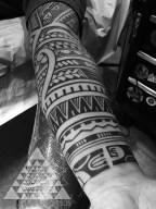 Freehand Hawaiian and Palaun Tattoo by Samuel Shaw