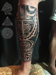 Marquesas inspired tattoo