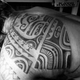 Back tattoo progress