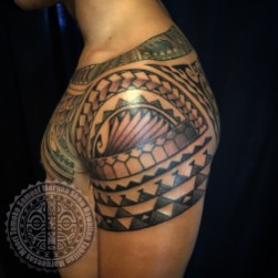 Mixed Polynesian tattoo