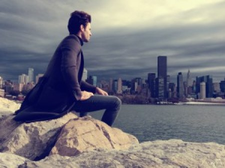 Samuel Trepanier looking at NYC